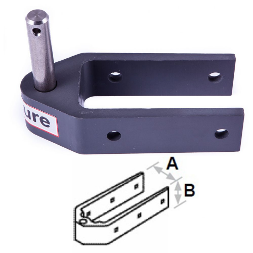 Seasure  Alloy Rudder Pintle  to fit 38mm Wide Stock 4 Hole Fixing  18-05